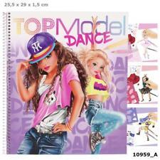 Top Model Malbuch Kinder DANCE Malheft Designbuch TOPModel Depesche inkl Sticker