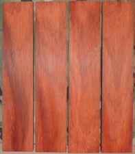 "4 Thin Padauk Boards-1/4"" thick-lumber/wood/crafts/ veneer/inlay/scrollsaw"