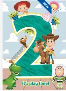 Hallmark Disney Toy Story 2nd Birthday Card