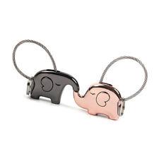 Charming Couple Lovers Key Chain Cute Elephant Shape Key Ring Pendant Decoration