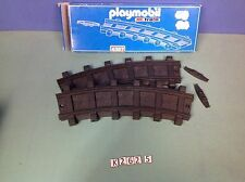 (K262.5) playmobil 2 rails courbes 4387 train wagon RC 4016 4017 4010 4011 4058