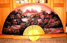Xxl Wandfächer Fächer Japan 1960er Jahre Fan China Elegante Form Asiatika: Japan