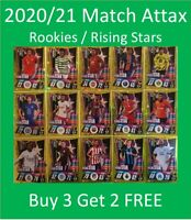 2020/21 Match Attax UEFA Cards - Rookies / Rising Star - Buy 3 Get 2 FREE
