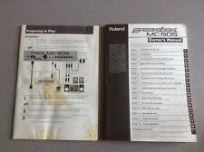Mode d'emploi, Manuel original pour GROOVE BOX MC-505 (en anglais)