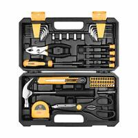 Home Repair Tool Set,General Household Hand Tool Kit with Plastic Tool Box