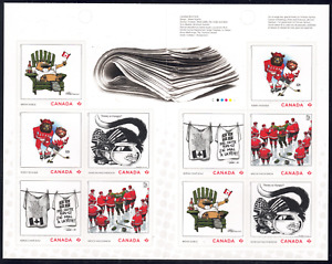 2021 Canada SC# Editorial Cartoonists - Complete Booklet of 10 - M-NH