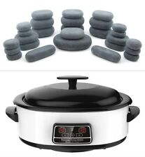 HOT STONE MASSAGE KIT: 27 Basalt Stones + 6 Litre Digital Hot Stone Heater
