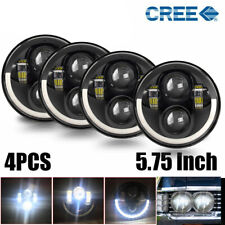 "5 3/4"" 5.75 Halo Round Projector LED Headlights Sealed Beam HeadLamp Light Bulbs"