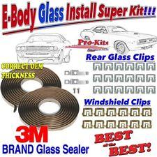 Fits71 72 73 74 Cuda Challenger Windshield Clip Front & Rear Window Sealer Kit