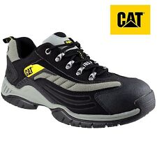 MENS CAT CATERPILLAR MOOR SB LEATHER SAFETY STEEL TOE CAP TRAINERS SHOE BOOTS SZ
