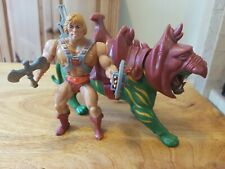 VINTAGE MASTERS OF THE UNIVERSE FIGURES MOTU/HE MAN AND BATTLE CAT COMPLETE