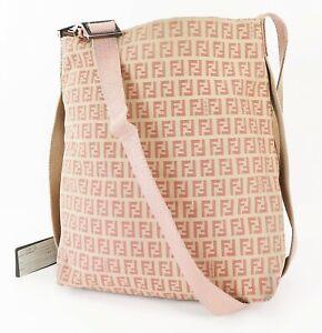 Auth FENDI Pink Zucca Canvas Tote Shoulder Bag Purse #38254