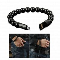 Beaded Charger Bracelet For Iphone Android Type C Charging USB Connector Cable