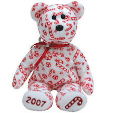 TY Beanie Baby - CANDY CANES the Bear (White Version) (Hallmark Excl) (8 inch)
