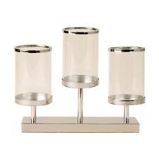 moderne support de photophore chandelier set métal argent hauteur 28 cm
