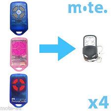4 x ATA PTX4 Compatible Garage/Gate Door Remote GDO 2v5/2v6/2v7/4v3/4v4/4v5/4v6
