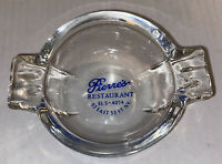 Vintage Pierre's Restaurant NY Glass Ashtray 53rd St. Free Ship Prop Art Deco