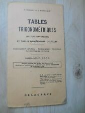 TABLES TRIGONOMETRIQUES