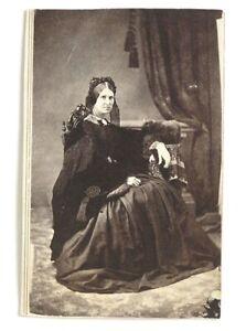 Vintage CDV Woman Civil War Era c1865 by Chas. Foedisch, Honesdale, PA