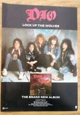 DIO Lock Up The Wolves 1990 magazine ADVERT / Poster 11x8 inches