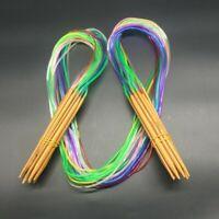 18 Stück Stricknadel Rundstricknadel Set Bambus 2mm-10mm Stricknadeln 120cm lang