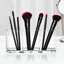 3 Holes Transparent Acrylic Makeup Brush Tool Storage Box Case Organizer Surpris