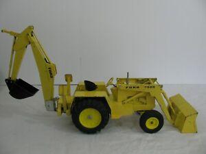 Vintage Ertl 1/12 Scale Die-Cast Ford 7500 Backhoe Loader Tractor VG