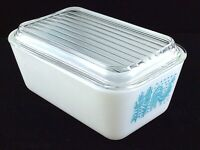 Vintage Pyrex Amish Butterprint Baking Dish 0502 1 1/2pt With Lid Ovenware T937