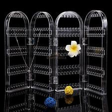Crystal Clear Stud Earring Jewellery Display Stand Holder Storage Organiser Box