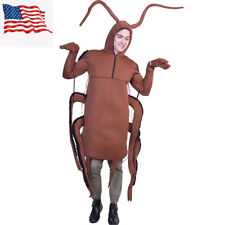 Adult Unisex Men Animal Cockroach Funny Halloween Costume Party Cosplay Outfits