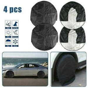 4pcs/set Heavy Duty Tire Cover RV Wheel Motorhome Wheel Covers Rain Protection.