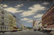 Meridian MS Fifth St. LINEN Postcard