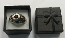Poison Ring Sterling Silver & Gold I Breath Deeply and Without Fear Black Stone