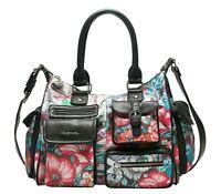 Desigual Yandi London Medium Shoulder Bag Handtasche Turquesa Schwarz Neu