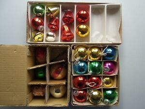 Vintage Christmas Bauble Decorations in 3 Boxes