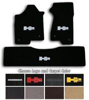 Lloyd Classic Loop 3pc Carpet Floor Mats for Hummer H2 - Choose Color & Logo