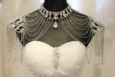 New Bridal Shoulder Necklace Body Chain Jewelry Set Rhinestone wedding dress