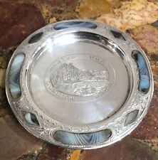 More details for an unusual silver and banded agate silver dish keswick birmingham 1903