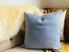 1X Stylish blue Linen Cushion Cover 45x45cms