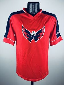 Men's Majestic NHL Cool Base Washington Capitals V-Neck Jersey Shirt NWT Medium