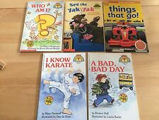Lot 5: Hello Reader! Karate, A Bad Day, Who Am I? Yak, Things That Go! Pb