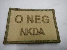 8111a9733663b PLATATAC O NEG NKDA Blood Group Patch KHAKI   OLIVE