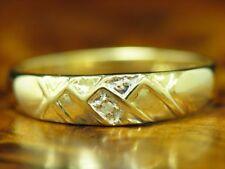 14kt 585 Gelbgold Ring mit Diamant Solitär Besatz / RG 51