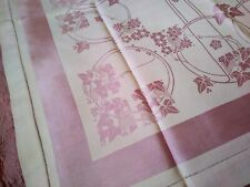 Amazing Vintage Lavender Art Deco Rayon Damask Tablecloth 38 Inch Square