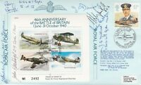 JSF7b6 46th Anniv  Battle of Britain  Signed by 6 Battle of Britain Pilots, Crew