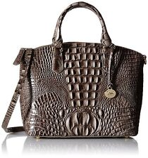 ❤️BRAHMIN DUXBURY SATCHEL FALCON GREY BROWN CROC EMB LEATHER DOME TOTE TAUPE ❤️