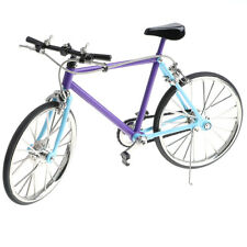 Purple 1:10 Scale Miniature Dollhouse Cycle Model Racing Bike Toy Playset