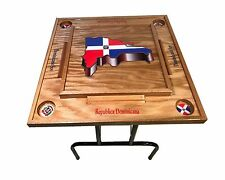 Dominican Republic Domino Table With the Mpa on -3D
