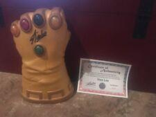 STAN LEE Certified Autographed Hasbro Marvel Universe SDCC  INFINITY GAUNTLET