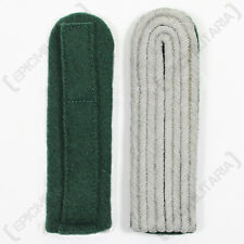 NEW WW2 German Army Elite PANZERGRENADIER OFFICER Shoulder Boards - Green Piped